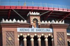 L'arène de Barcelone signent dedans l'Espagne Photographie stock libre de droits
