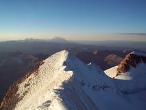 L'arête de Huayna neigeux Potosi photos libres de droits