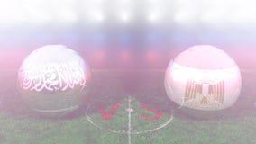 L'Arabie Saoudite contre l'Egypte, coupe du monde 2018 de la FIFA Vidéo 3D originale illustration de vecteur