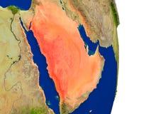 L'Arabie Saoudite sur terre illustration libre de droits