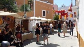 L'arabo commercializza Ibiza Spagna Fotografie Stock Libere da Diritti