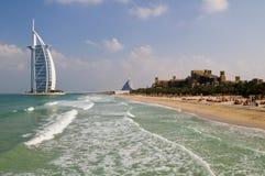 L'Arabo di Al di Burj, il Madinat e Jumeirah tirano l'hotel in secco Immagine Stock Libera da Diritti