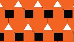 L'arancia astratta moderna semplice ha collegato il modello del quadrato e del triangolo Fotografia Stock Libera da Diritti