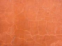 L'arancia di Brown ha intonacato la superficie della parete Immagini Stock Libere da Diritti