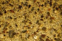 L'arancia ha invecchiato la struttura della parete del cemento, fondo della roccia, superficie incrinata Fotografie Stock Libere da Diritti