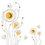L'arancia sveglia fiorisce il fondo Immagine Stock