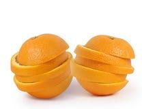 L'arancio affetta il concetto della spremuta   Fotografia Stock Libera da Diritti
