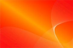 L'arancio fluttua su colore rosso Fotografia Stock