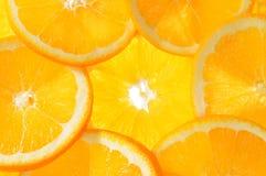 L'arancio fresco fruttifica priorità bassa Fotografia Stock