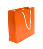 L'arancio ricicla il sacco di carta Fotografia Stock