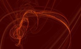 L'arancio rosso curva la priorità bassa Fotografia Stock Libera da Diritti