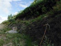 L'aratro dell'agricoltore su Rocky Himalayan Terrain Immagine Stock Libera da Diritti
