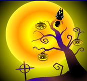 L'arbre avec le potiron. Photos libres de droits