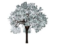 L'arbre d'argent Photos stock