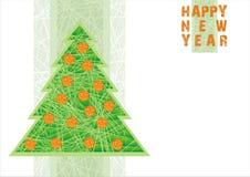 L'arbre d'an neuf illustration stock
