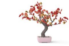 L'arbre de coeurs dans le pot illustration 3D Photographie stock