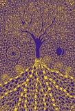 L'arbre de la vie Photo symbolique de l'industrie graphique Symbole, métaphore de la vie et croissance illustration de vecteur