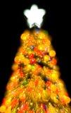 L'arbre de Noël allume la couleur abstraite Santa   Photos libres de droits