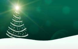 L'arbre de Noël allume la foudre d'étoiles miroitant Photo libre de droits
