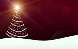 L'arbre de Noël allume la foudre d'étoiles miroitant Photos stock