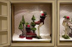 L'arbre de Noël allume le magasin Photographie stock