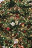 L'arbre de Noël avec des ornements Images libres de droits