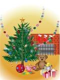L'arbre de Noël célèbrent Photo libre de droits
