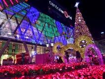 L'arbre de Noël le plus grand dans la lumière colorée d'abd de la Thaïlande pour la nouvelle célébration 2016 de Yesr Photographie stock