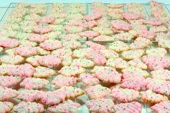 L'arbre de Noël Spritz des biscuits Image stock