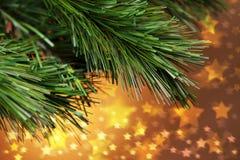 L'arbre de Noël Stars le fond Photographie stock libre de droits