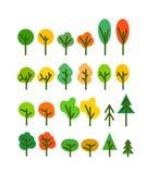 L'arbre différent de saison silhouette l'agrafe-art Images stock