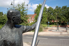 L'Arc雕象,贝辛斯托克 免版税库存图片