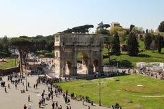 L'arc de Constantine pendant le jour ensoleillé Photographie stock