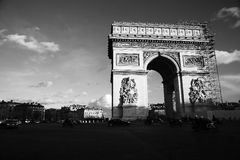 L Arc de Triomphe. Black and white. 2014 Stock Photography