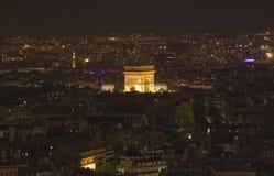 L'Arc de Triomphe at Night Stock Photo