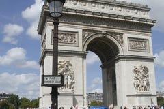 L ` Arc de Triomphe paris Arkivbild