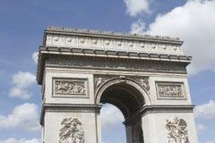 L ` Arc de Triomphe paris Arkivfoton