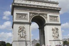 L ` Arc de Triomphe paris Arkivbilder