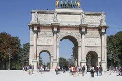 L ` Arc de Triomphe paris Royaltyfri Foto