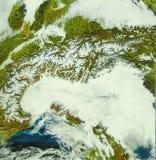 L'arc des Alpes photo stock