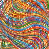 L'arc-en-ciel abstrait incurvé barre le fond de couleur Photo libre de droits