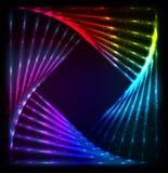 L'arc-en-ciel brillant de lumières colore le cadre de vecteur Image libre de droits