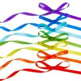L'arc-en-ciel cintre, signe gai de LGBT est isolé sur le blanc Photo libre de droits
