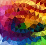 L'arc-en-ciel colore le fond abstrait de triangles Photographie stock