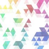 L'arc-en-ciel colore le modèle triangulaire de vecteur Fond abstrait ENV 10 illustration de vecteur