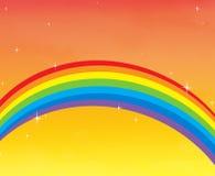 L'arc-en-ciel colore le moment Photographie stock libre de droits
