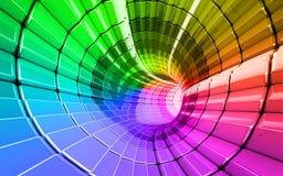 L'arc-en-ciel colore le panorama de fond de technologie Image libre de droits