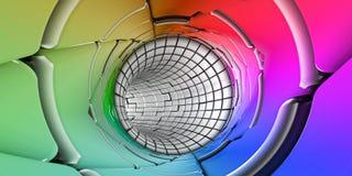 L'arc-en-ciel colore le panorama de fond de technologie Image stock