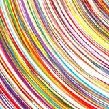 L'arc-en-ciel d'art abstrait incurvé raye le fond coloré Photographie stock