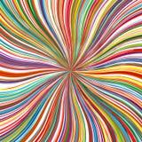 L'arc-en-ciel d'art abstrait incurvé raye le fond coloré Images stock